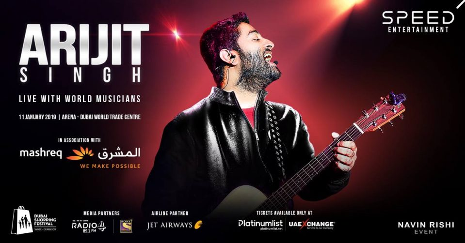 Arijit Singh – Live with World Musicians - Coming Soon in UAE, comingsoon.ae