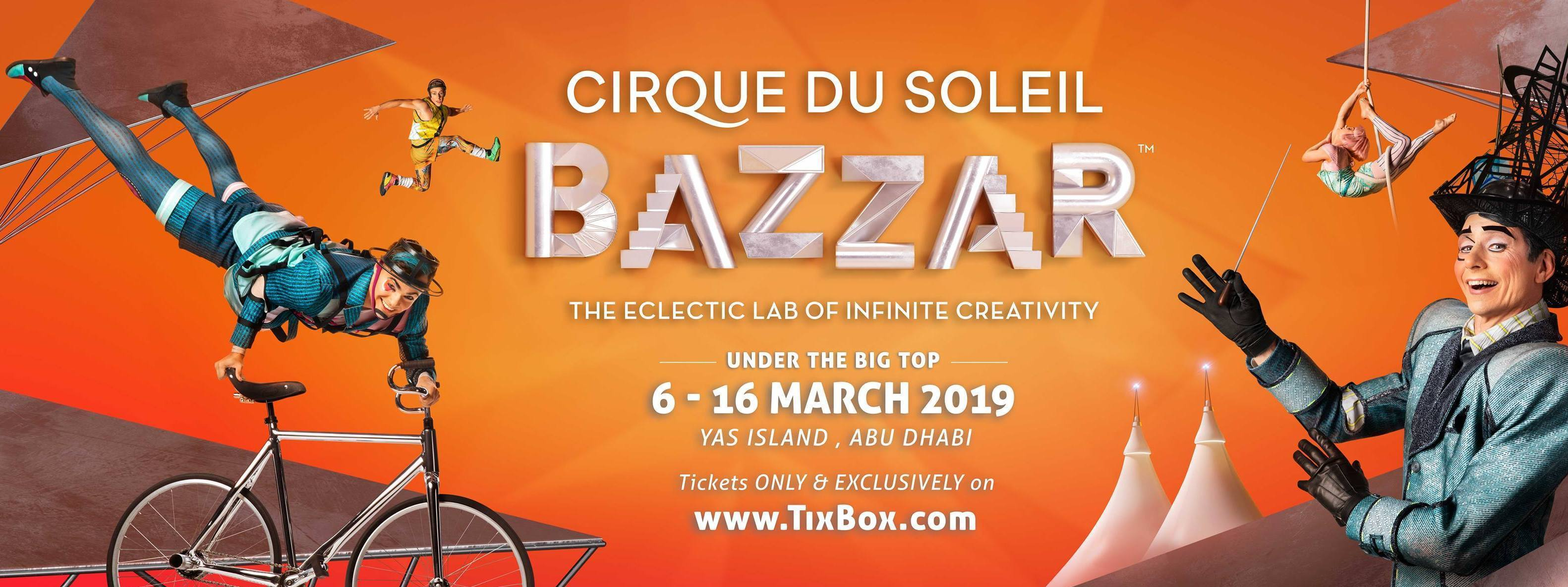 Cirque du Soleil BAZZAR at Yas Island - Coming Soon in UAE