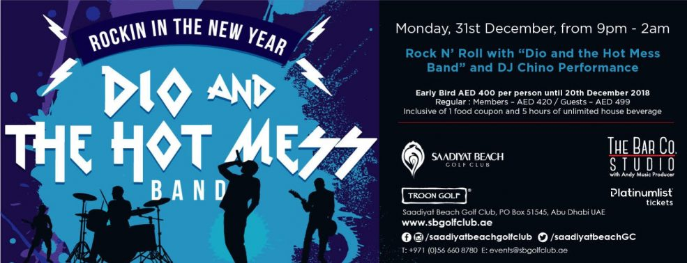 Rock N' Roll NYE – Dio and the Hot Mess Band - Coming Soon in UAE, comingsoon.ae