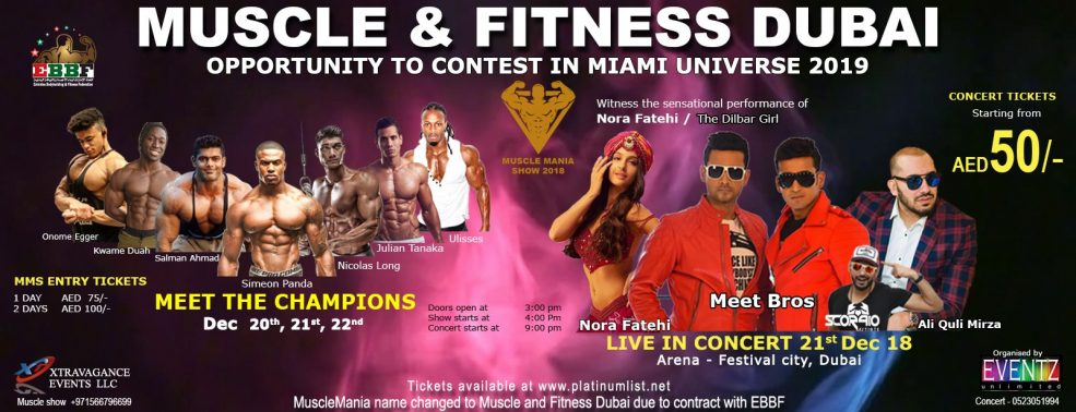 Muscle & Fitness Dubai – Live in concert - Coming Soon in UAE, comingsoon.ae