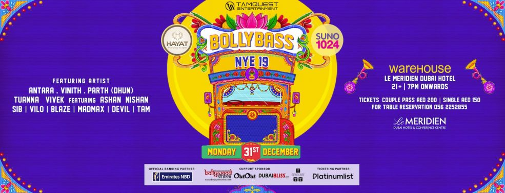 Bollybass New Year's Eve - Coming Soon in UAE, comingsoon.ae