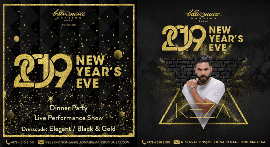 Billionaire Mansion: New Year's Eve 2019 - Coming Soon in UAE, comingsoon.ae