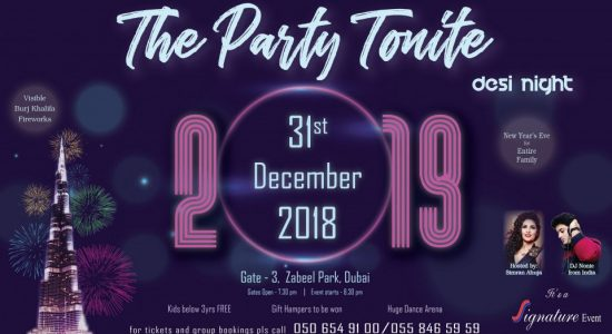 The Party Tonite – New Year's Eve at the Zabeel Park - comingsoon.ae