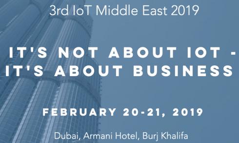Internet of Things Conference 2019 - Coming Soon in UAE, comingsoon.ae