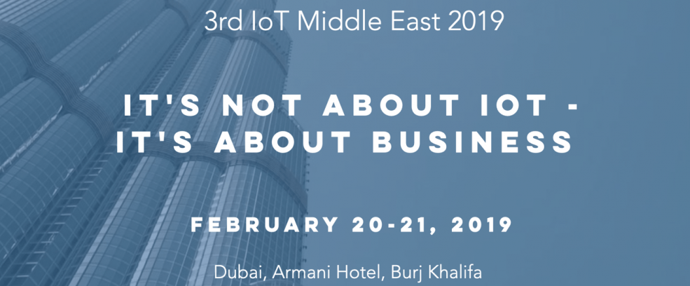 ​Internet of Things Conference 2019 - Coming Soon in UAE, comingsoon.ae