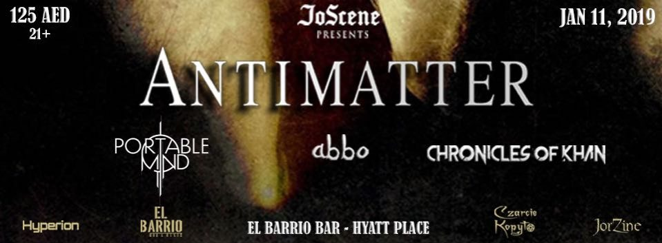 Antimatter Live concert - Coming Soon in UAE, comingsoon.ae
