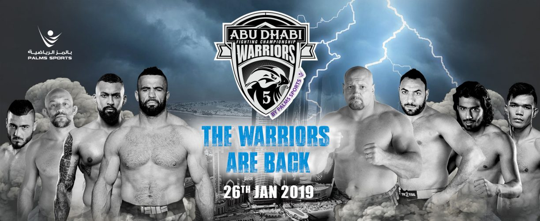 Abu Dhabi Warriors Fighting Championship 5 - Coming Soon in UAE, comingsoon.ae