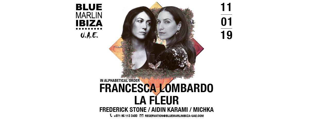 Francesca Lombardo & La Fleur at Blue Marlin Ibiza UAE - Coming Soon in UAE, comingsoon.ae