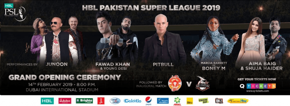 HBL Pakistan Super League opening - Coming Soon in UAE, comingsoon.ae