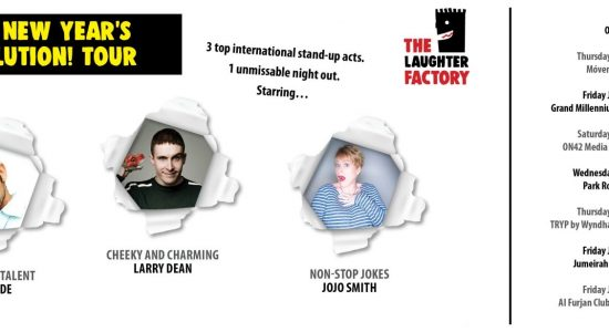 The Laughter Factory: Your New Year's Dissolution! Tour - comingsoon.ae