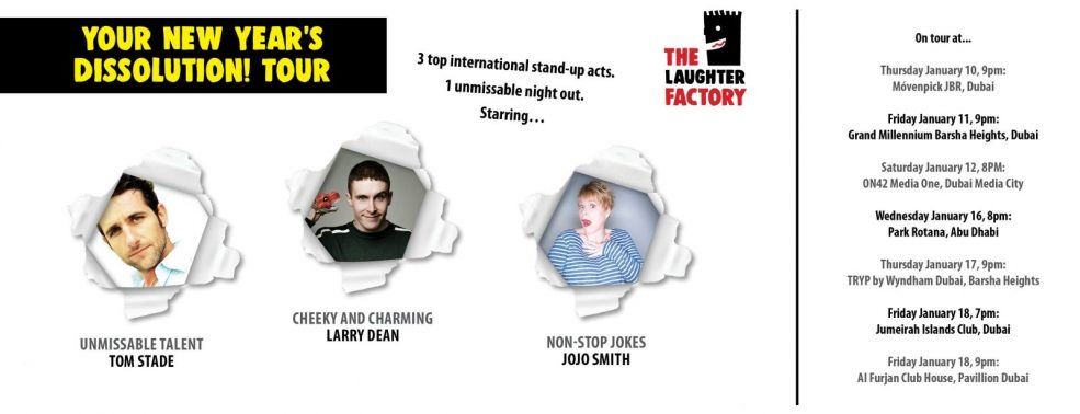 The Laughter Factory: Your New Year's Dissolution! Tour - Coming Soon in UAE, comingsoon.ae