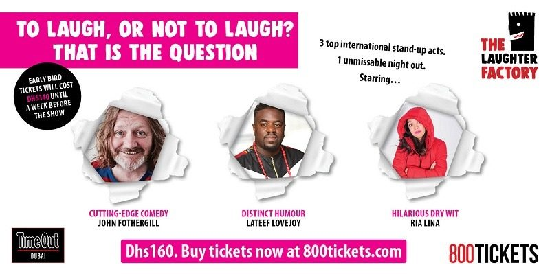 The Laughter Factory comedy tour - Coming Soon in UAE, comingsoon.ae