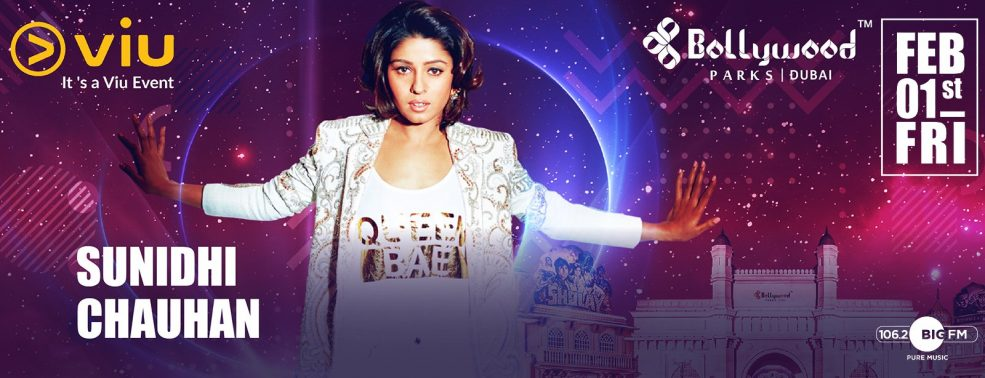 Sunidhi Chauhan Live at Bollywood Parks - Coming Soon in UAE, comingsoon.ae