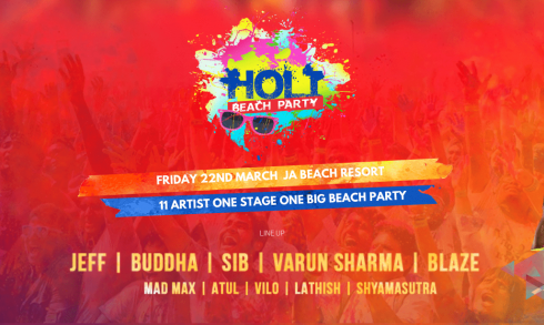 Holi Beach Party 2019 - Coming Soon in UAE, comingsoon.ae