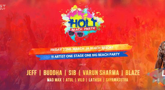 Holi Beach Party 2019 - comingsoon.ae