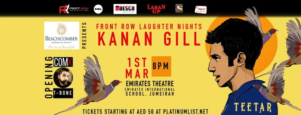 Front Row Laughter Nights with Kanan Gill - Coming Soon in UAE, comingsoon.ae