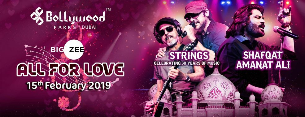 All For Love Concert at Bollywood Parks - Coming Soon in UAE, comingsoon.ae