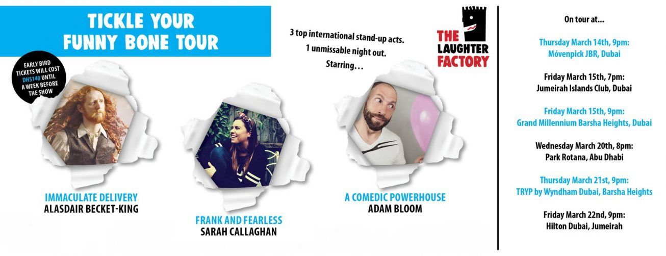 The Laughter Factory: Tickle your funny bone tour - Coming Soon in UAE, comingsoon.ae