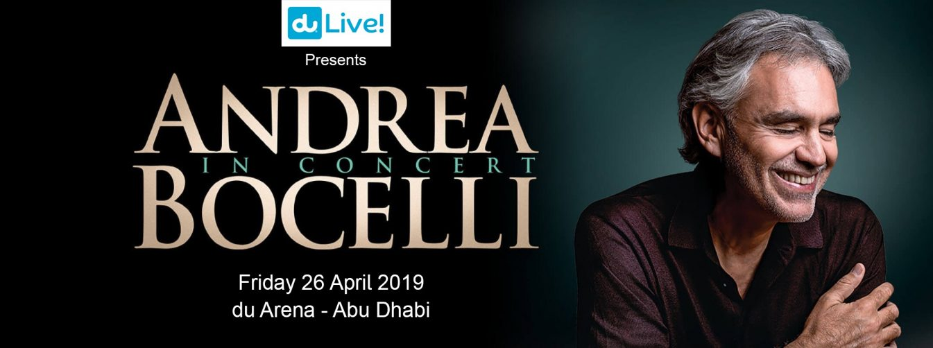 Andrea Bocelli concert at du Arena - Coming Soon in UAE, comingsoon.ae