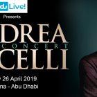 Andrea Bocelli concert at du Arena by FLASH Entertainment