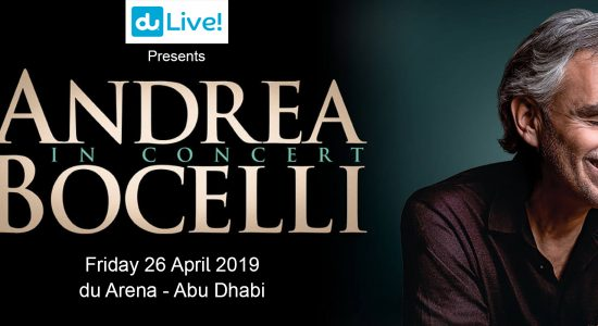 Andrea Bocelli concert at du Arena - comingsoon.ae