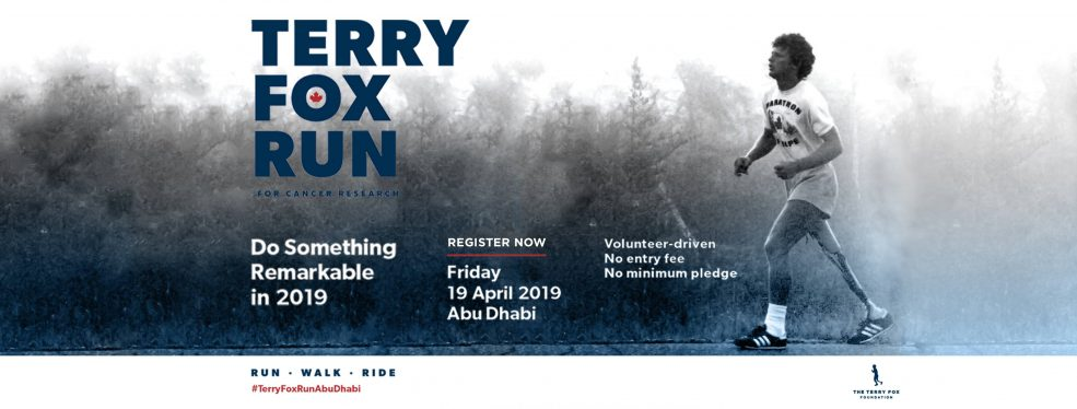 Terry Fox Run 2019 - Coming Soon in UAE, comingsoon.ae