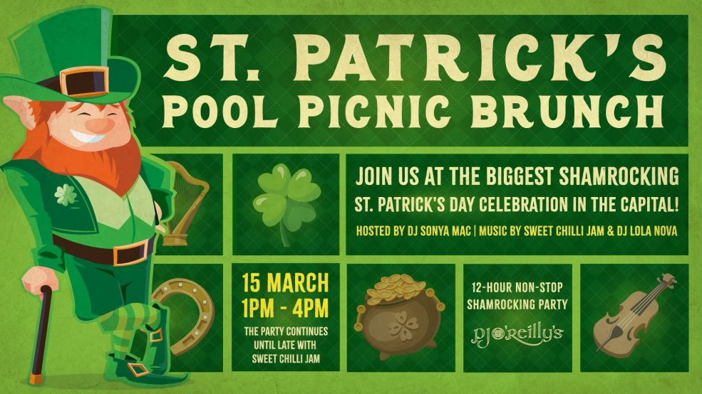 PJ O'Reilly's – St. Patrick's Pool Picnic Brunch - Coming Soon in UAE, comingsoon.ae