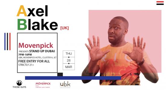 Stand Up Comedy Dubai with Axel Blake - comingsoon.ae