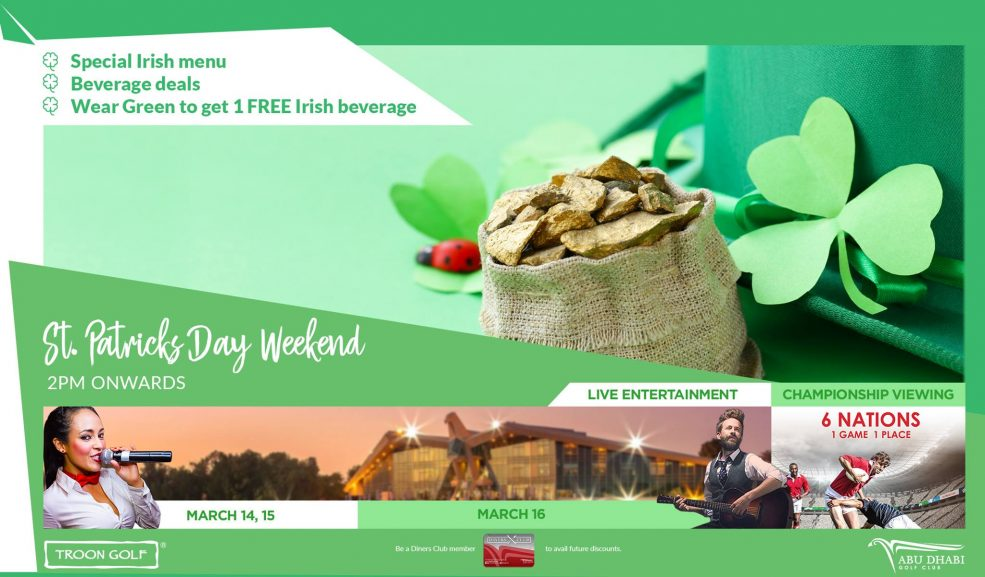 St. Patrick's Day at Abu Dhabi Golf Club - Coming Soon in UAE, comingsoon.ae