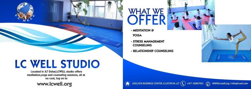 Free Meditation and Counselling Sessions at LC Well Jumeirah Lakes Towers - Coming Soon in UAE, comingsoon.ae