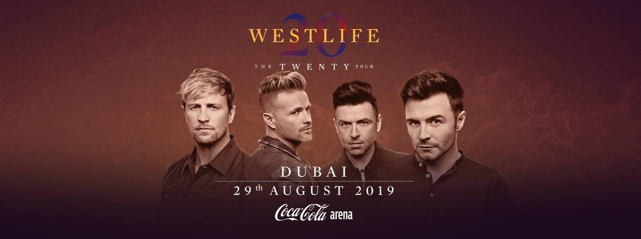 Westlife at Coca-Cola Arena - Coming Soon in UAE