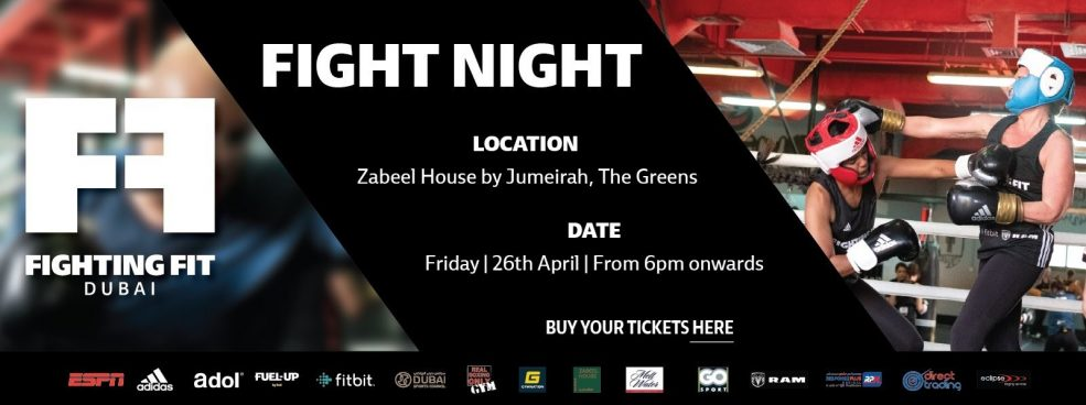 Fighting Fit Dubai – Fight Night - Coming Soon in UAE, comingsoon.ae