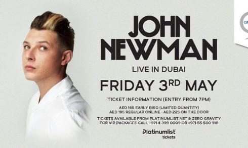 John Newman at Zero Gravity - Coming Soon in UAE, comingsoon.ae