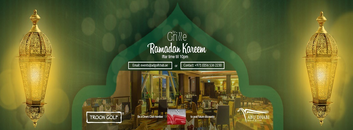Ramadan Iftar at Abu Dhabi Golf Club - Coming Soon in UAE, comingsoon.ae