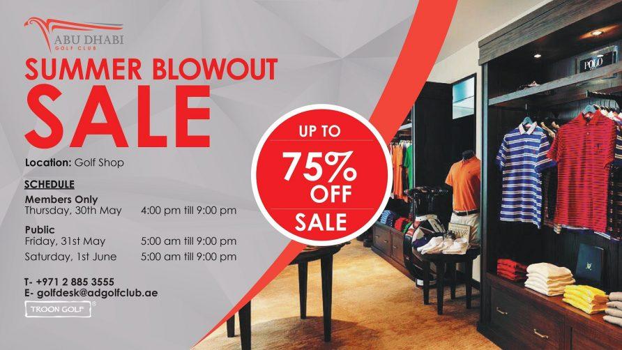 Summer Blowout sale at Abu Dhabi Golf Club - Coming Soon in UAE, comingsoon.ae