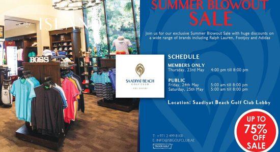 Summer Blowout sale at Saadiyat Beach Golf Club - comingsoon.ae