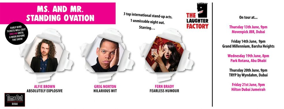 The Laughter Factory: Ms. & Mr Standing Ovation Tour - Coming Soon in UAE, comingsoon.ae