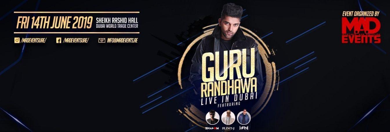 Guru Randhawa Concert at the Dubai World Trade Centre - Coming Soon in UAE, comingsoon.ae