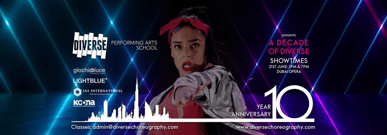A Decade of Diverse: dance and musical theatre variety show - Coming Soon in UAE, comingsoon.ae