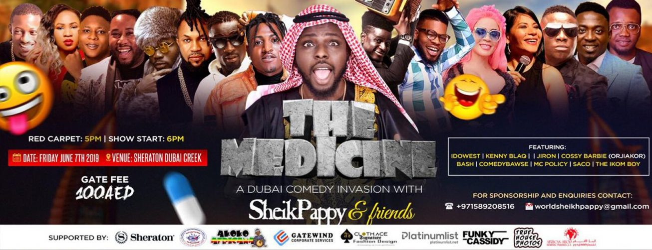 The Medicine: Sheik Pappy & Friends – A Comedy Invasion - Coming Soon in UAE, comingsoon.ae