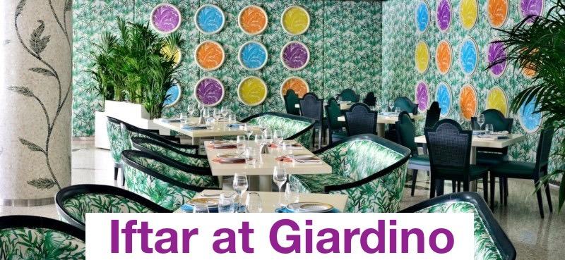 Iftar at Giardino - Coming Soon in UAE, comingsoon.ae