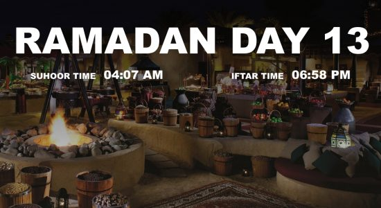 Holy month of Ramadan, Day 13 - comingsoon.ae