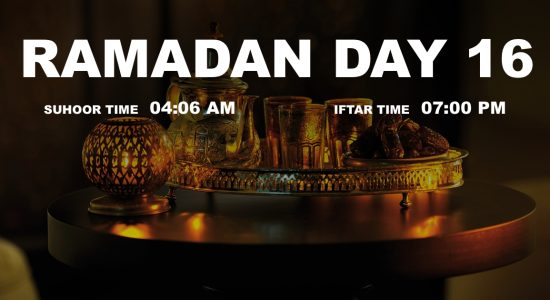 Holy month of Ramadan, Day 16 - comingsoon.ae