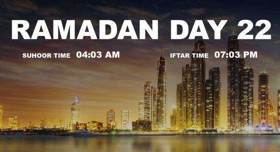 Holy month of Ramadan, Day 22 - comingsoon.ae