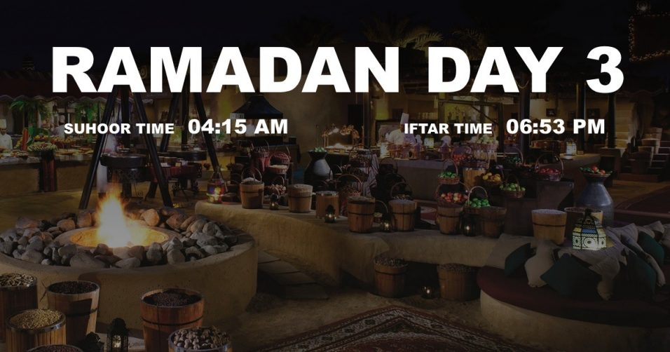 Holy month of Ramadan, Day 3 - Coming Soon in UAE