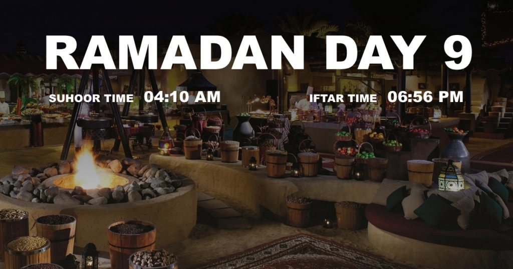 Holy month of Ramadan, Day 9