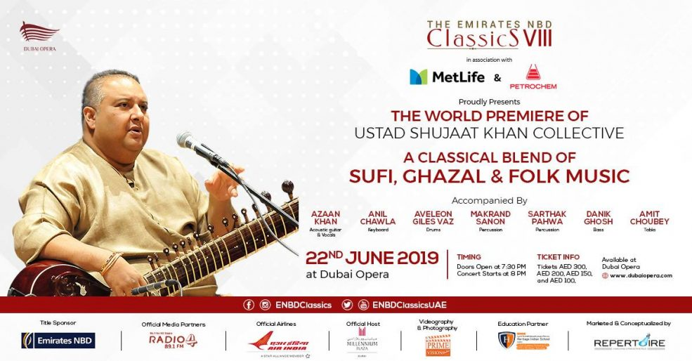 Ustad Shujaat Khan at the Dubai Opera - Coming Soon in UAE, comingsoon.ae