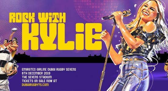 Kylie Minogue at Emirates Airline Dubai Rugby Sevens - comingsoon.ae