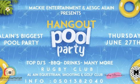 Hangout Pool Party – Al-Ain Biggest Pool Party - Coming Soon in UAE, comingsoon.ae