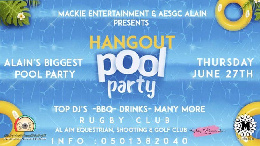 Hangout Pool Party – Al-Ain Biggest Pool Party - Coming Soon in UAE, comingsoon.ae
